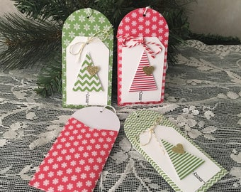 Christmas gift card holders, Red/Green/White, Christmas tree gift card holder/money holder/note holder