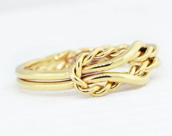 10K Yellow Gold Ring, Yellow Gold Promise Ring, Yellow Gold Ring, 10K Gold Ring, Infinity Knot Jewelry, Engagement Ring, Valentines Day Gift