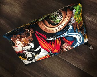 Handmade Retro Monster Makeup Pouch
