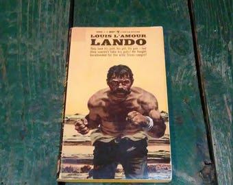 Vintage Lando Louis L'Amour Paperback Book Western