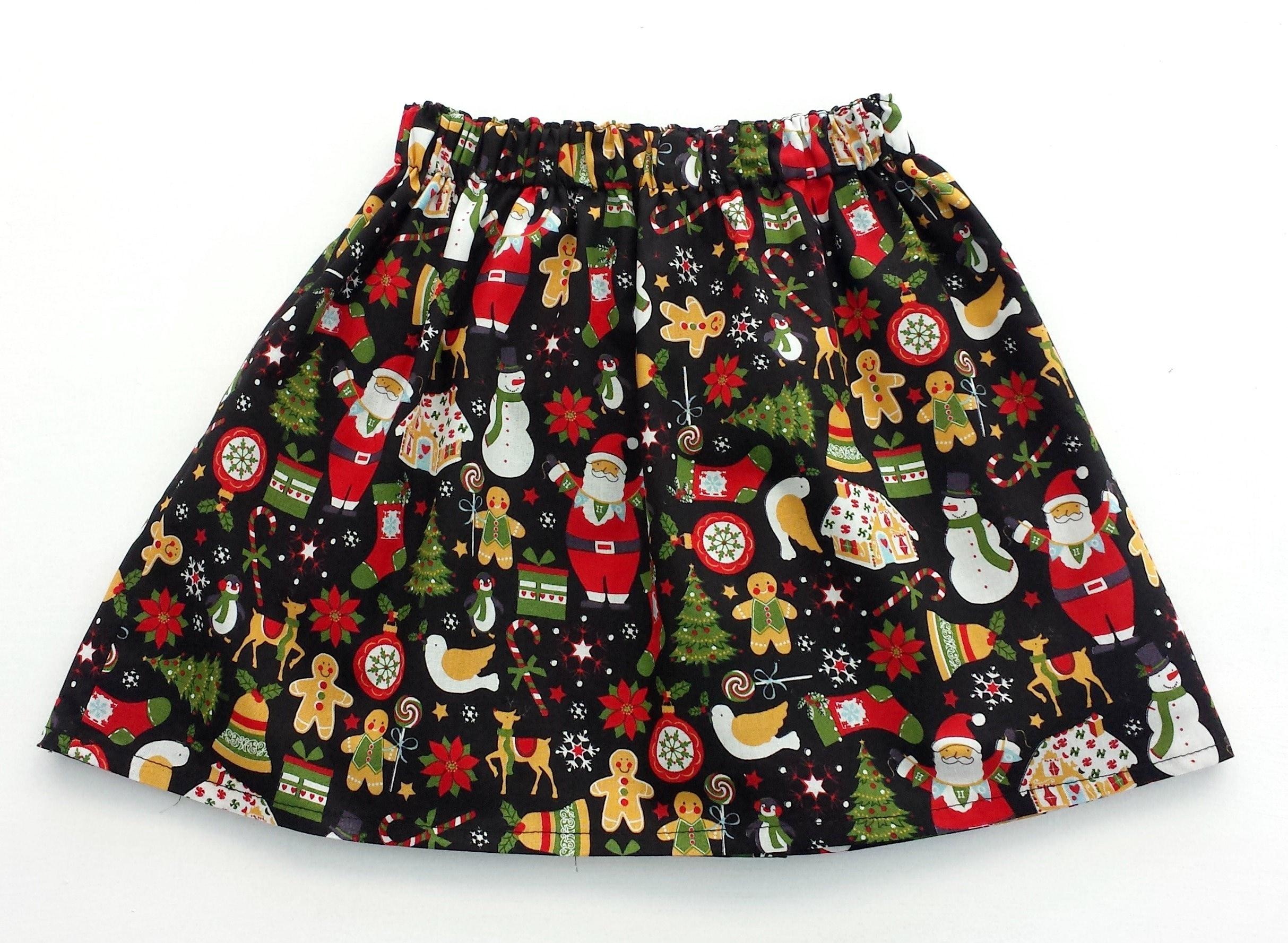 Santa skirt girls christmas