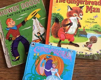 Little golden books- gingerbread man- howdy doody- cinderella