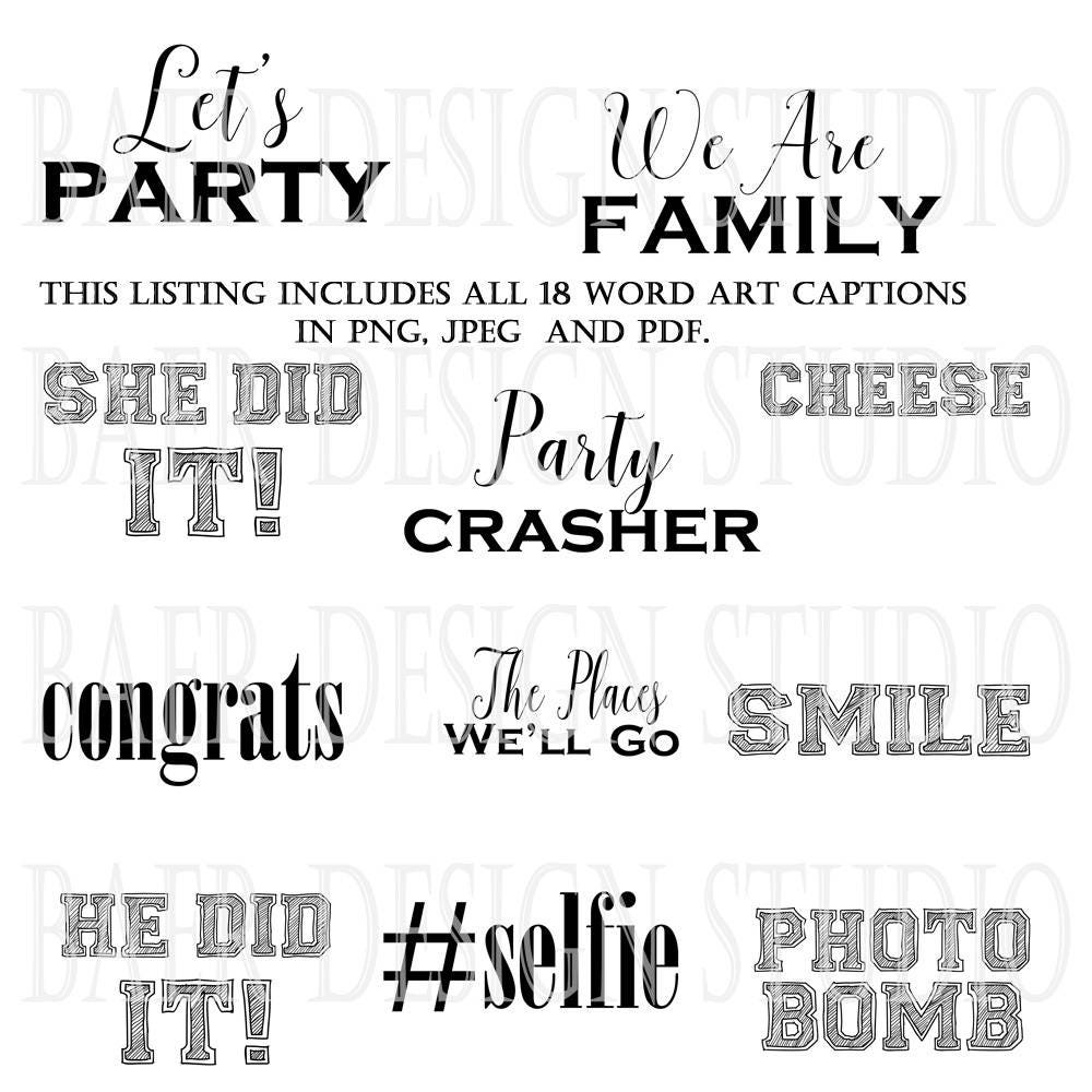 Photo Booth Quotes Photo Overlays Photo Captionsinspirational Quotes Photo Booth