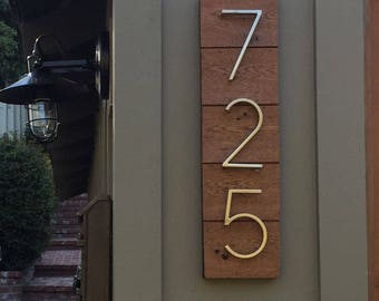 Custom Address Plaque with Reclaimed wood