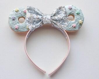 Donut Minnie Mouse Ears / Donut Ears / Mickey Mouse Ears / Disney Ears / Minnie Ears / Mickey Ears / Minnie Mouse Ears / Disney Ears / Gift