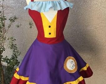 White Rabbit costume apron dress