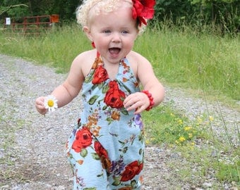 NEW!!! Idyllwilde Collection, Baby Halter Dress, Low Back Dress, Floral Dress, Girls Dress, Maxi Dress, Halter Maxi Dress, Toddler Fashion