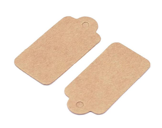 Kraft Jewelry price tags - Kraft Rectangle Paper Price Tags - blank tags - Kraft Tags - 30mm x 15mm (1915) - Flat rate shipping