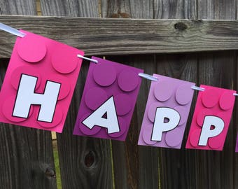 LEGO Friends Girl Birthday Banner