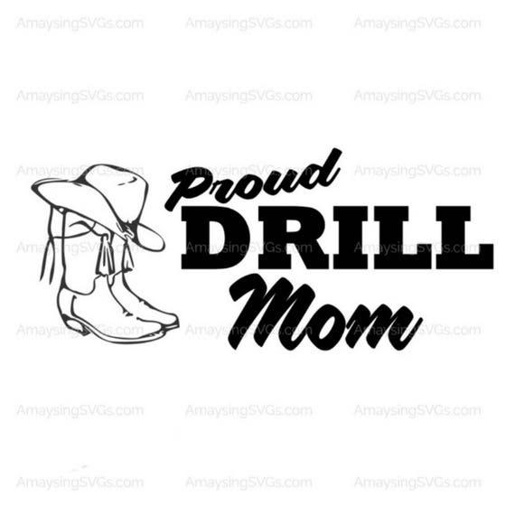 svg proud drill mom svg drill dance team drill team
