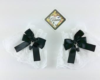 Lace Wrist Cuff-Lolita Maid Wrist Cuff- Goth Lolita-Lolita-Wrist Cuff-Harajuku-Bracelet-Gift for Her
