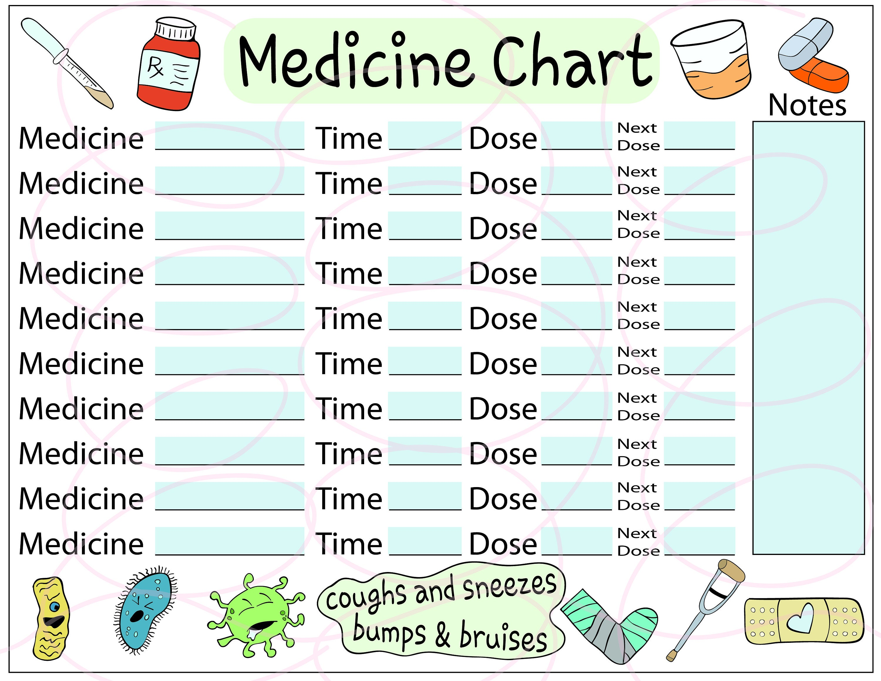 It's just a graphic of Astounding Printable Medication Charts