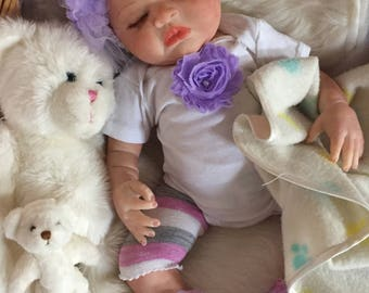 Completed Reborn Baby Doll Starlyn From the Londyn Kit  20 inch Completed Doll with Magnetic Pacifier