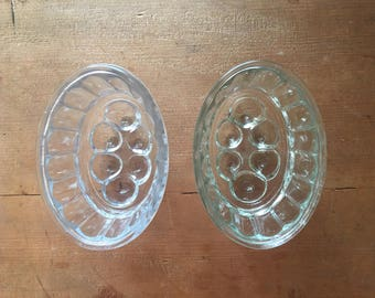 Two Vintage Glass Jelly Molds