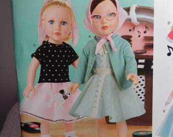 Simplicity 8072-0669-18 Inch Doll Clothing Pattern --New Uncut