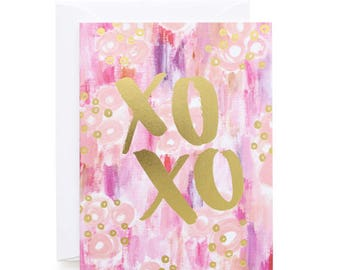 XOXO Painterly Gold Foil Card