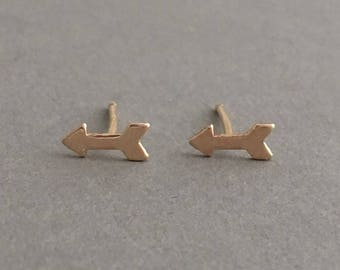 Arrow Post Earrings Gold Fill or Sterling Silver