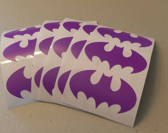 15 Purple Batman Stickers for Birthday Invitation, Baby Showers, Planners, Labels or Decorations