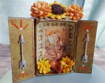Apollo Matchbox Shrine Ornament.