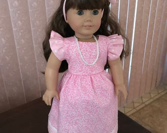 "Dress for 18"" doll w/ necklace"
