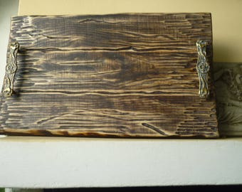 rustic,handmade,solid wooden tray or platter,simple,primitive serving board,vintage,shabby chic