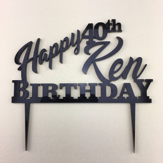 CUSTOM Cake Topper...Personalised Cake Topper.  Happy  Birthday,  FREE SHIPPING Australia Wide