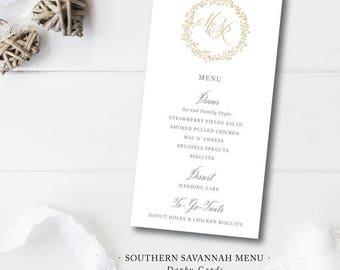 Southern Savannah Menus