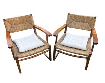Mid Century Rattan Chair Set