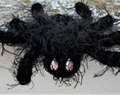 Halloween Gift Black Spider Brooch Gothic Jewelry Shaggy Spider Pin Spooky Halloween  Accessory Halloween Home Decoration Halloween Costume
