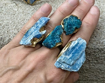 KYANITE BLADE RING - Pick from 2