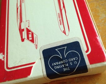 vintage TWA trans world airlines playing card deck unused sealed