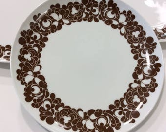 Rosenthal Plus Cordial Made in Germany Studio Line Studio Linie Salad Plates Luncheon Plates Set of 5 Chocolate Brown Wolfgang Karnagel