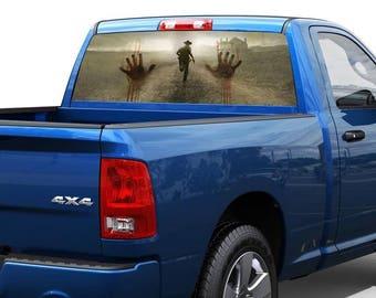 Zombie hands horror Rear Window Decal Sticker Pickup Truck SUV Car 12