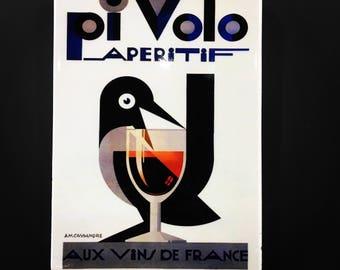 Vintage Poster Wall Tile Decor Pi Volo Aperitif
