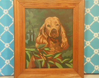 Cocker Spaniel Dog Paint By Numbers - Wood Frame