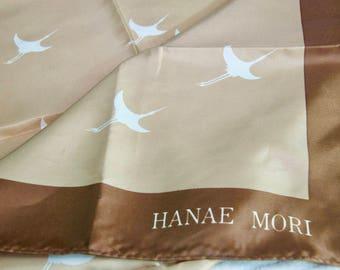Vintage Hanae Mori Japan Airlines Scarf
