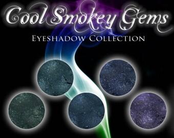 COOL SMOKEY GEMS - Shimmer Eyeshadow, Eyeshadow Collection, Sapphire, Amethyst, Vegan Eyeshadow, Gemtone Colors, Ships Out in 5-7 Days