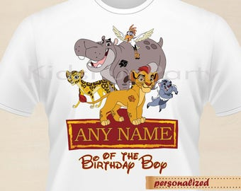 Lion Guard T-Shirt - Any Name Personalized -  Lion Guard Birthday Iron On Transfe - Birthday Boy - Lion Guard Party Favors