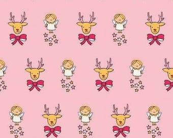 Deer Angels - Cotton Elastane - European Knits - 1 Yard