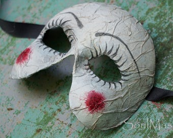 Broken Dolly Mask, Creepy Doll Mask, Halloween Mask, Scary Mask, Broken Doll Mask, Doll Costume, Dark Mask, Soul Mask, Steampunk, Cosplay