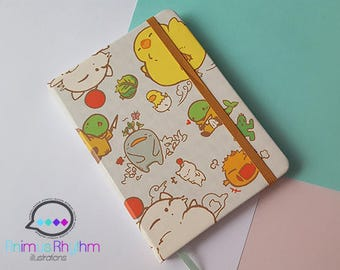 Final Fantasy Chocobo Travel Notebook Journal Sketchbook Moogle Bomb Tonberry Anime Game