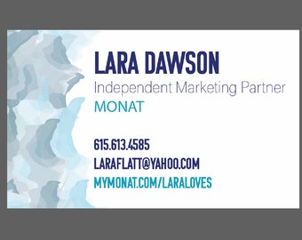 Printable Watercolor Waves Bulk Business Cards