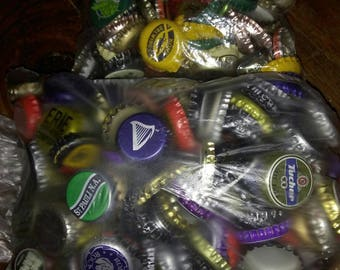 Approximately 400 Assorted Bottlecaps for Crafting