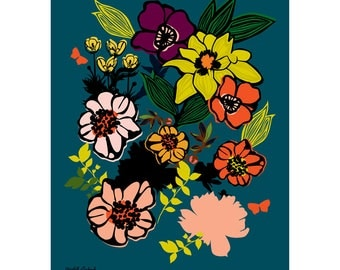 Full Bloom Flower Print 11 x 14 inches