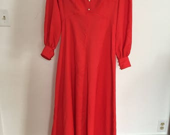 Homemade vintage red gown