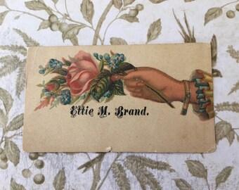 "Sweet Victorian Calling Card ""Ettie Brand"""
