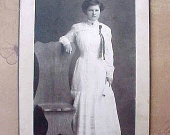 Lovely Victorian Era Photograph of Young Lady Graduate