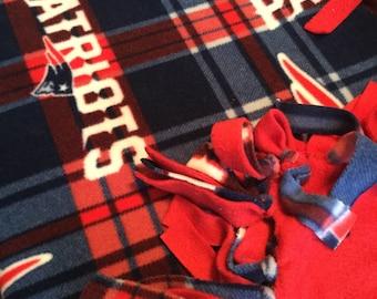 Large Patriots Tied Fleece Blanket