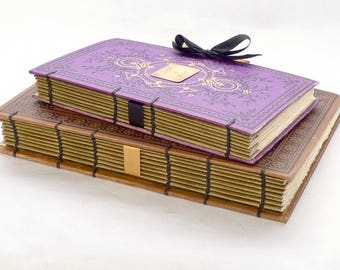 Wedding Photo Guestbook, Honeymoon Scrapbook, Anniversary Journal, Guestbook Ideas, Custom Handbound Blank Books Made from Antiques