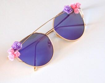 Purple Decorated sunglasses